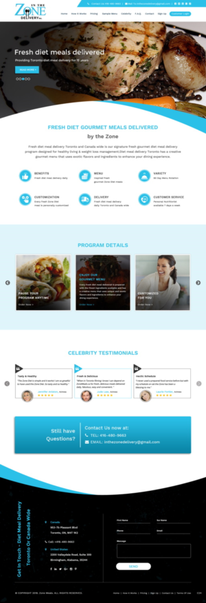 Healthy Meal Delivery Website Needs A New Face Lift 33 Web Designs For A Business In Canada