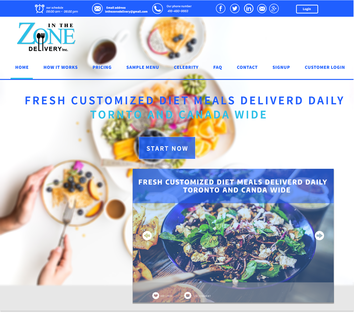 Bold, Modern, Food Service Web Design for a Company by jamika 44