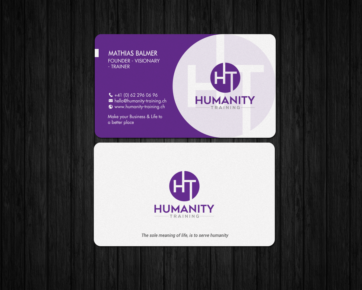 Elegant, Modern Business Card Design for Humanity Training by ...