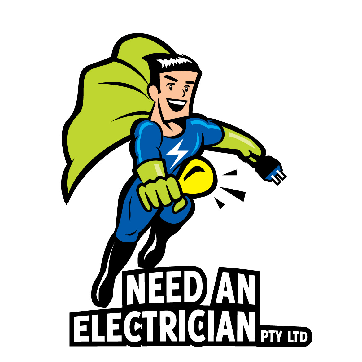 Character Design By Elisha Leo For Need An Electrician Logo