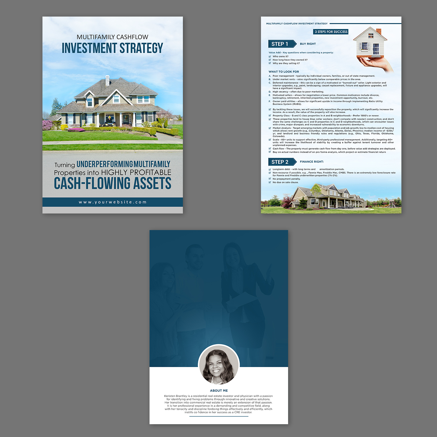 Upmarket, Serious, Real Estate Print Design for a Company by
