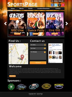 Web Design job – Web Design Project for Sports Bar – Winning design by MiNdfr34k