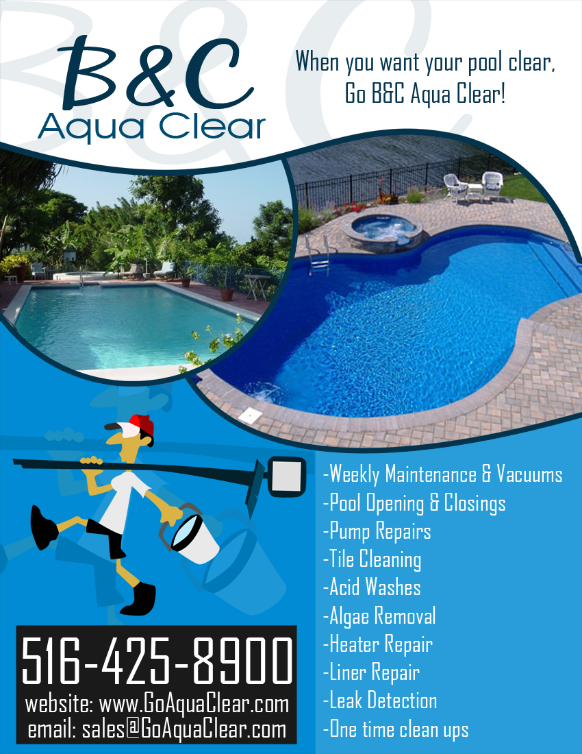 Upmarket elegant flyer design for craig cohen by for Pool design company elwira kowalska