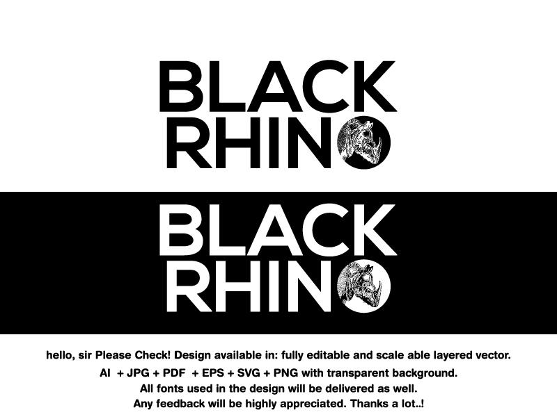 Playful, Modern, Fitness Logo Design for BLACK RHINO by