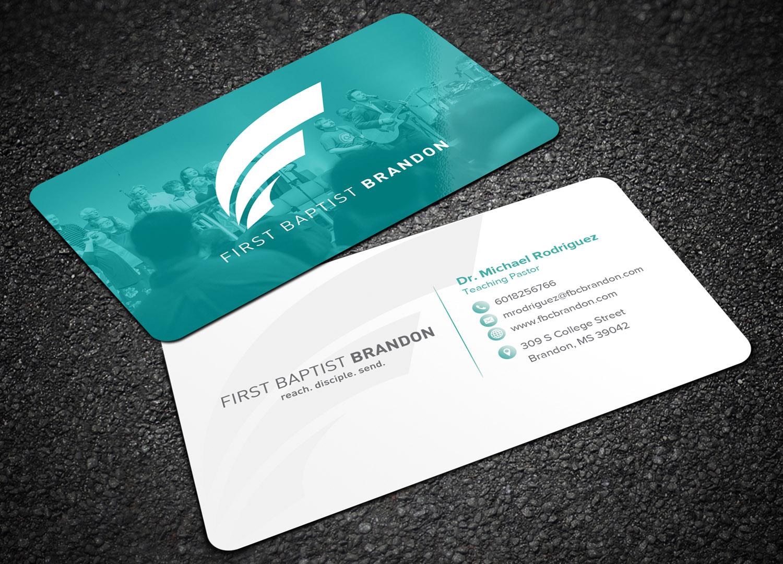 Design De Carte Visite Moderne Economique Church Pour A Company En Aux United States
