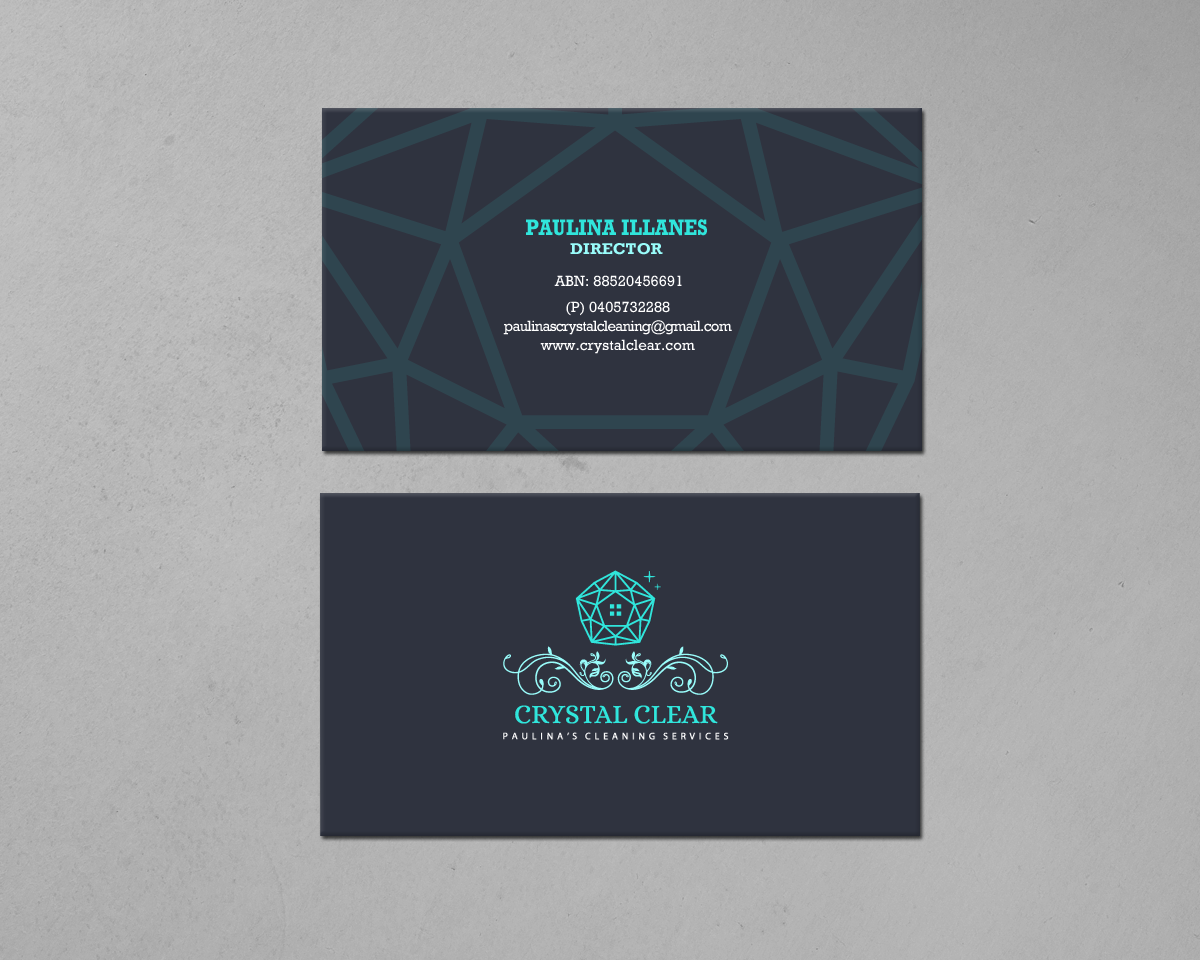 business card design by chandrayaancreative for this project design 18817779 - Cleaning Company Business Cards