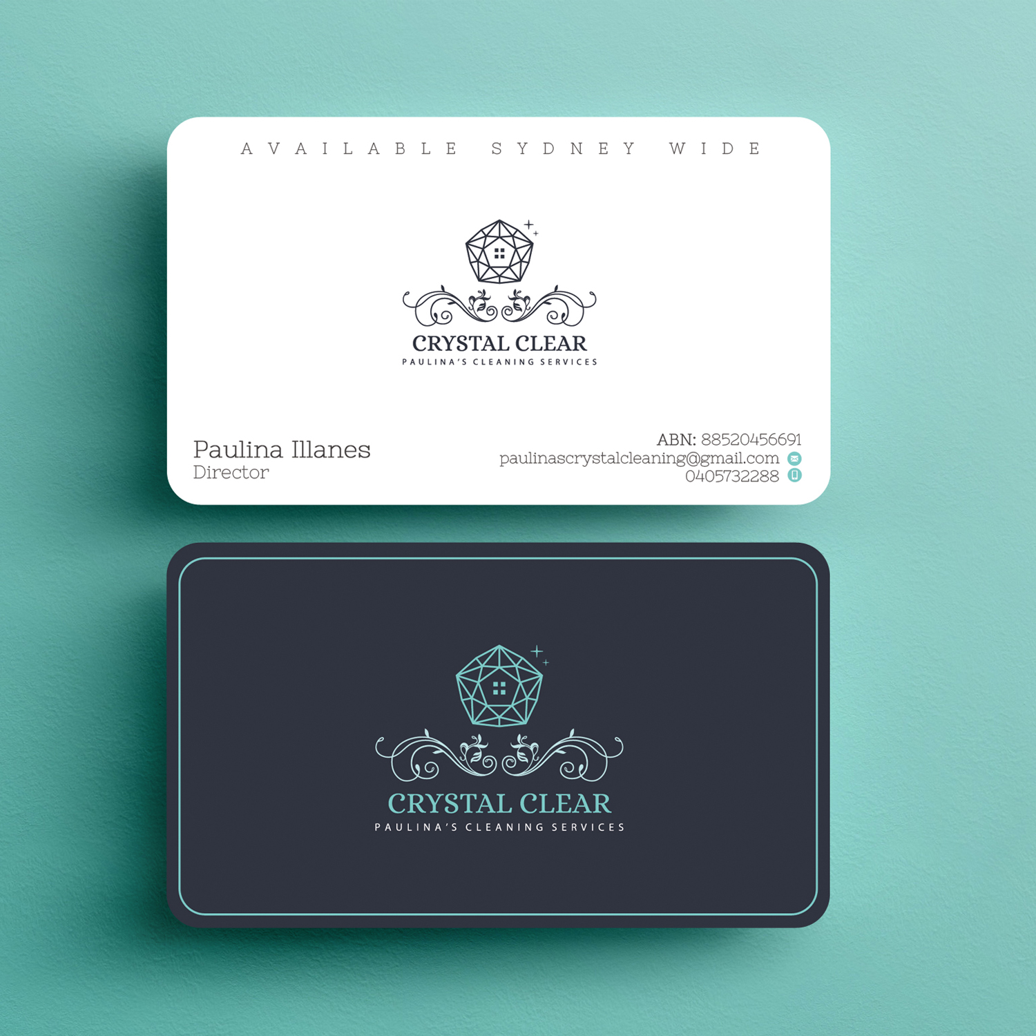 business card design by infiniumtech for this project design 18811094 - Cleaning Company Business Cards