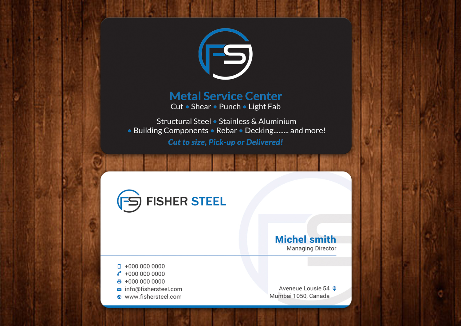 Professional upmarket business card design for fisher steel by business card design by alaminenterprise for fisher steel design 18834491 reheart Image collections