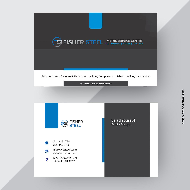 Design De Carte Visite Par Sajad Youseph Pour Fisher Steel