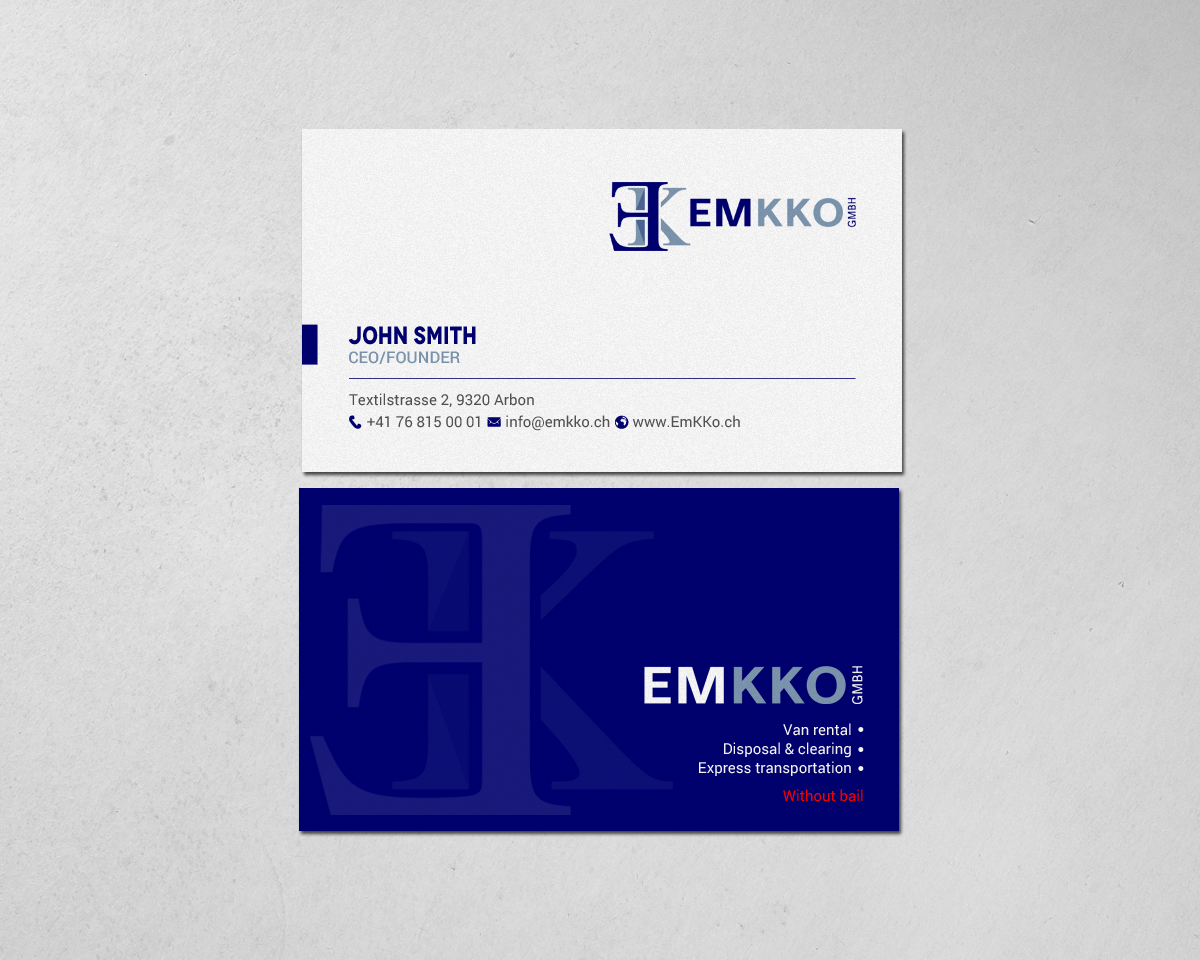 Modern masculine car rental business card design for a company by business card design by chandrayaaneative for this project design 18840795 reheart Image collections