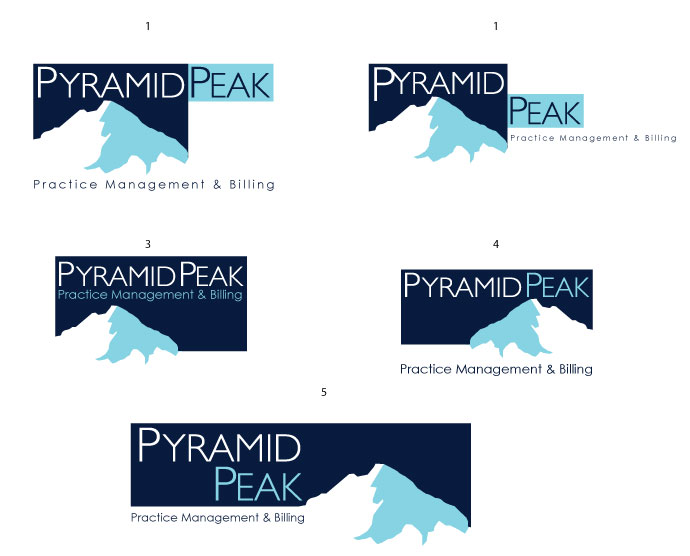 Logo Design job – Pyramid Peak Practice Management and Billing – Winning design by Avant Marketing