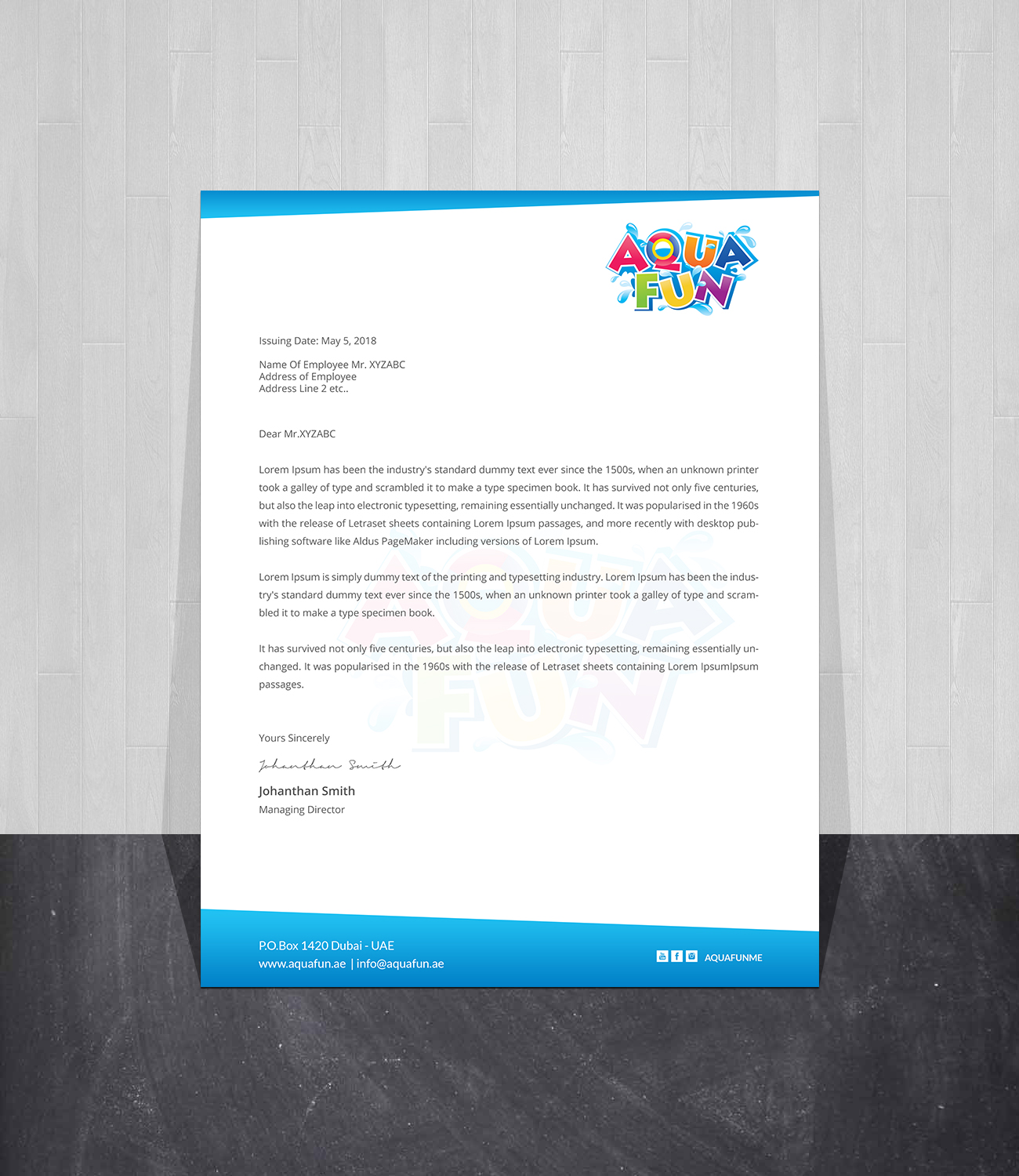 Letterhead Design By Creations Box 2015 For This Project -