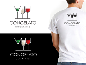 Logo Design job – Congelato Cocktails – Winning design by designshart