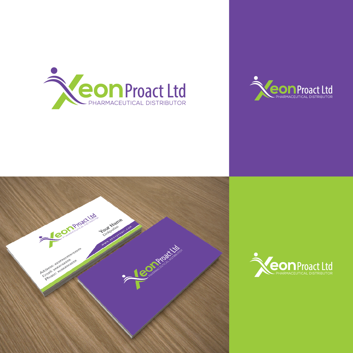 Modern, Colorful, Pharmaceutical Logo Design for Xeon Proact