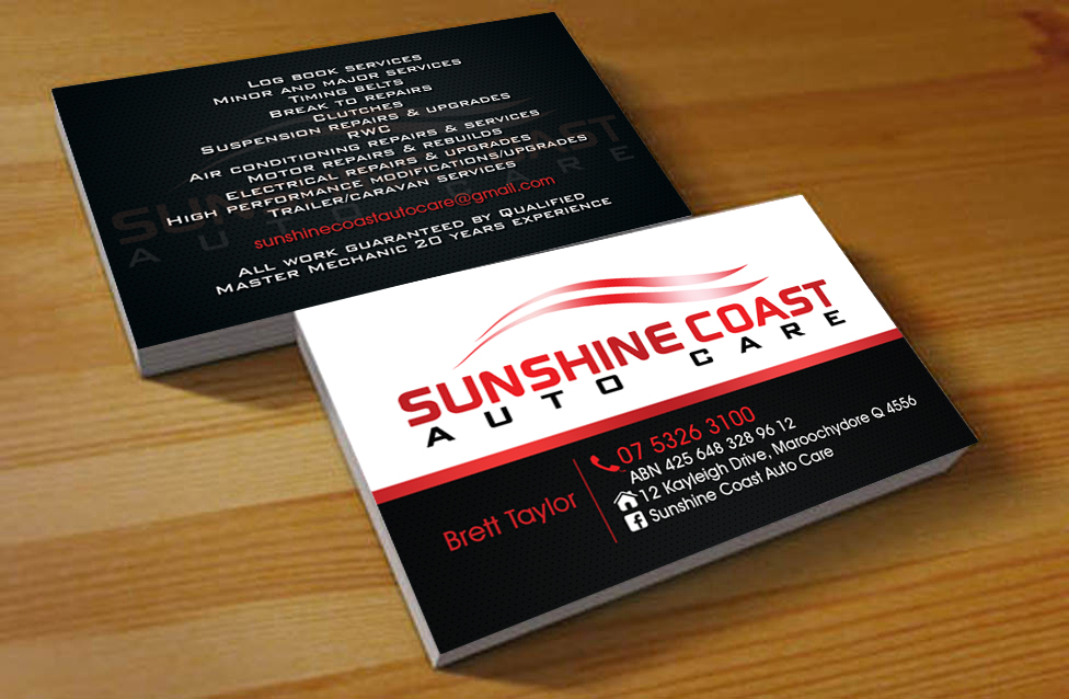 Business business card design for sunshine coast mechanical by business business card design for sunshine coast mechanical in australia design 2907353 reheart Gallery