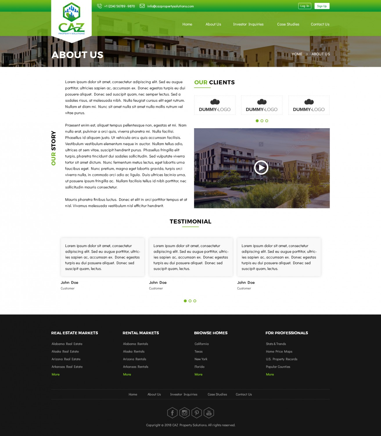 Modern, Elegant, Real Estate Web Design for a Company by Tamil Tech