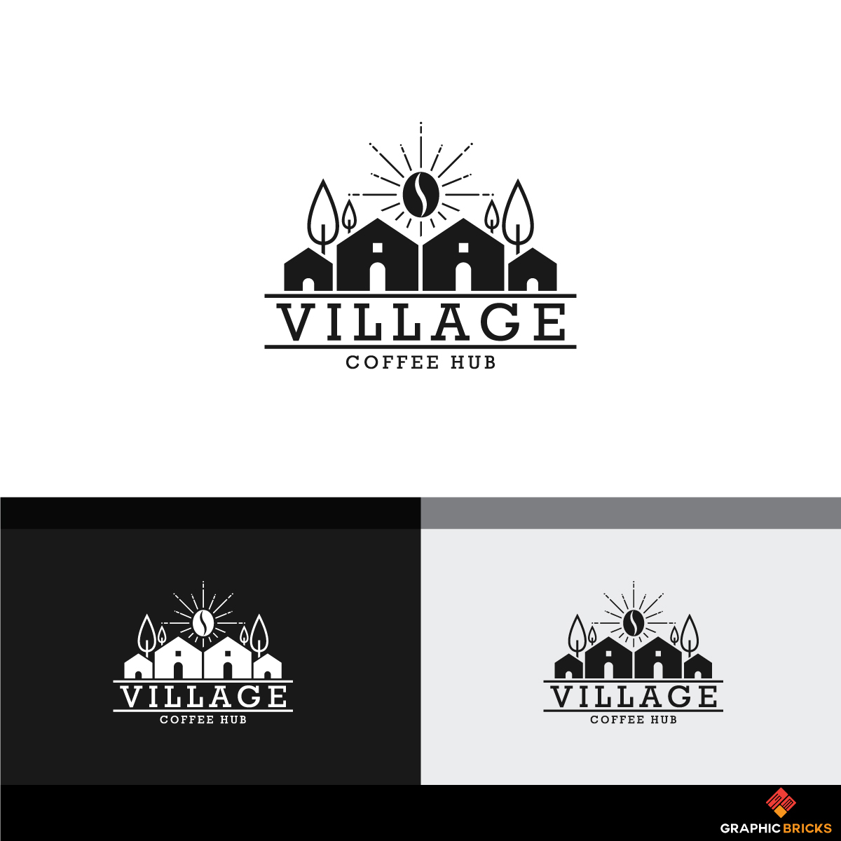 Elegant Modern Hospitality Logo Design For Village Coffee Hub In Australia 18905761