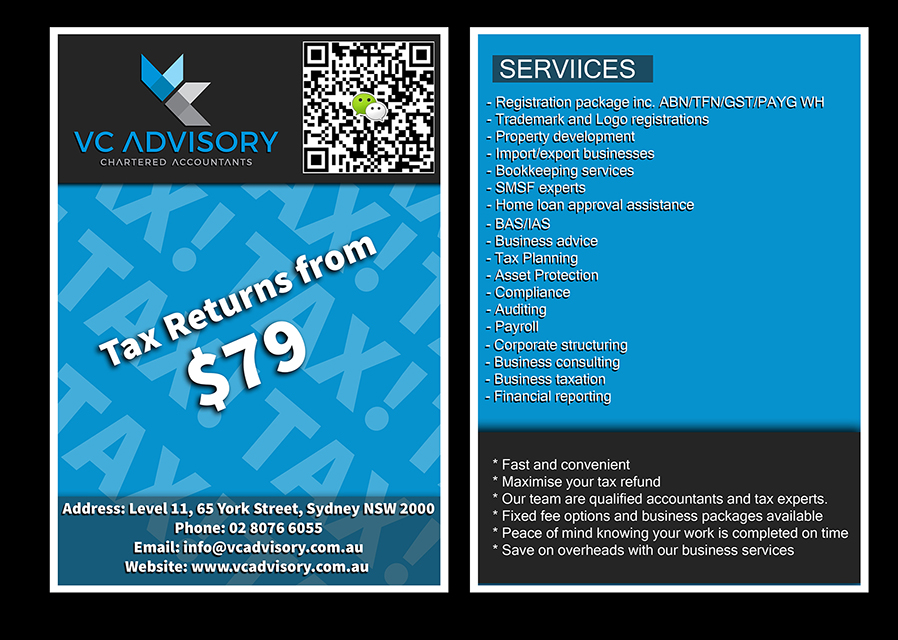 Modern, Colorful, Accounting Flyer Design for VC Advisory