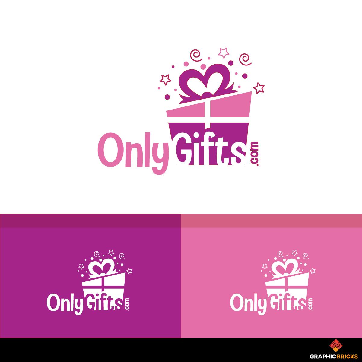 Modern Playful Gift Shop Logo Design For Onlygifts Com By Logo No 1 Design 18923738