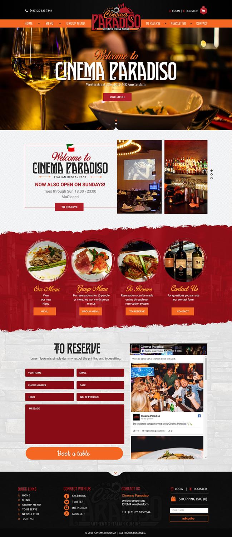 Elegant Serious Italian Restaurant Web Design For The Wild Web By Sd Webcreation Design 18968417