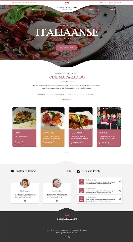Elegant Serious Italian Restaurant Web Design For The Wild Web By Designanddevelopment Design 18932418