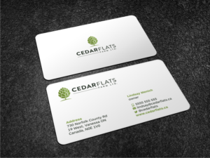 cedar flats hop farm business card design business card design by atvento graphics - Craft Business Cards