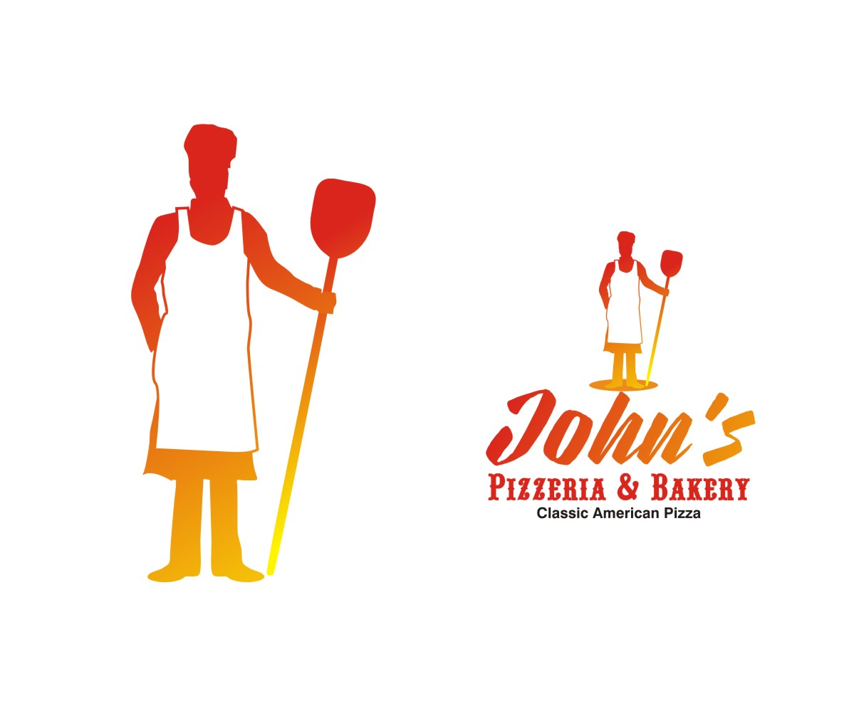 Masculine Upmarket Restaurant Logo Design For John S Pizzeria Bakery Classic American Pizza By Falguni Design 18964082