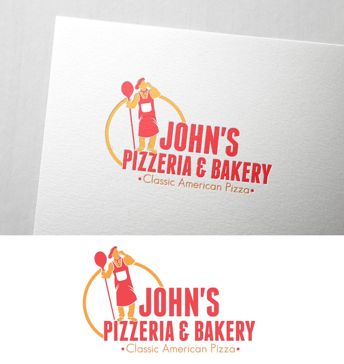 Masculine Upmarket Restaurant Logo Design For John S Pizzeria Bakery Classic American Pizza By Black Stallions Impressive Solutions Design 18959302