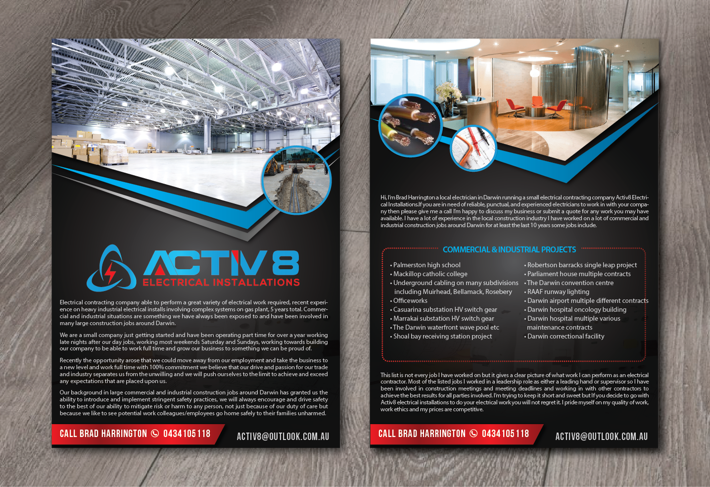 Professional, Serious, Electric Company Brochure Design for Activ8 ...