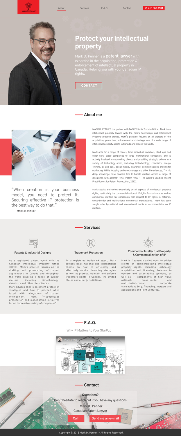 Modern, Upmarket, Legal Web Design for a Company by renica