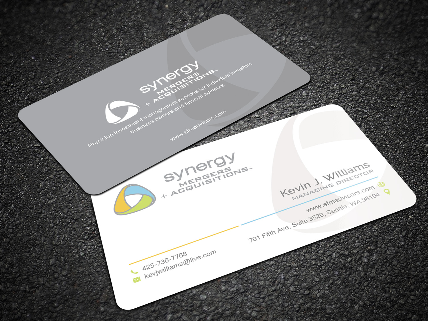 Llc owners business cards ultimate user guide modern professional real estate business card design for gennaker rh designcrowd com credit for llc cool business cards reheart Gallery