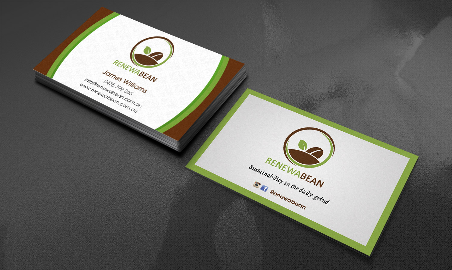 Bold Modern Recycling Business Card Design For A Company