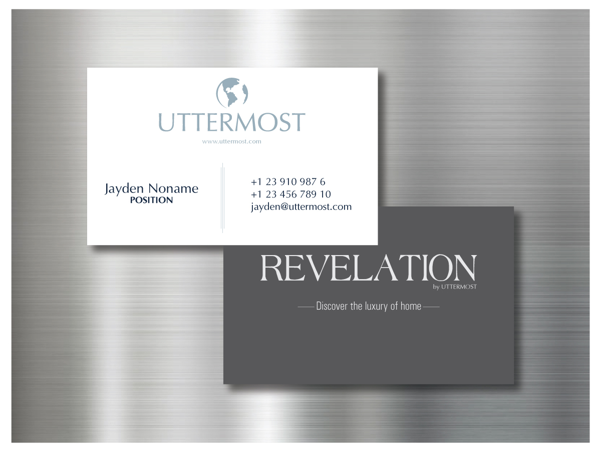 Elegant Playful Home Furnishing Business Card Design For A Company