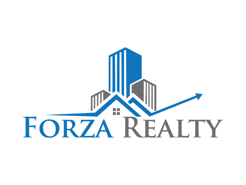 professional elegant real estate logo design for forza realty by