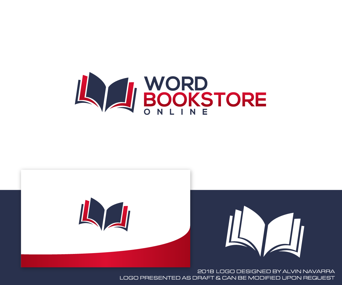 Elegant Playful Retail Logo Design For Word Bookstore