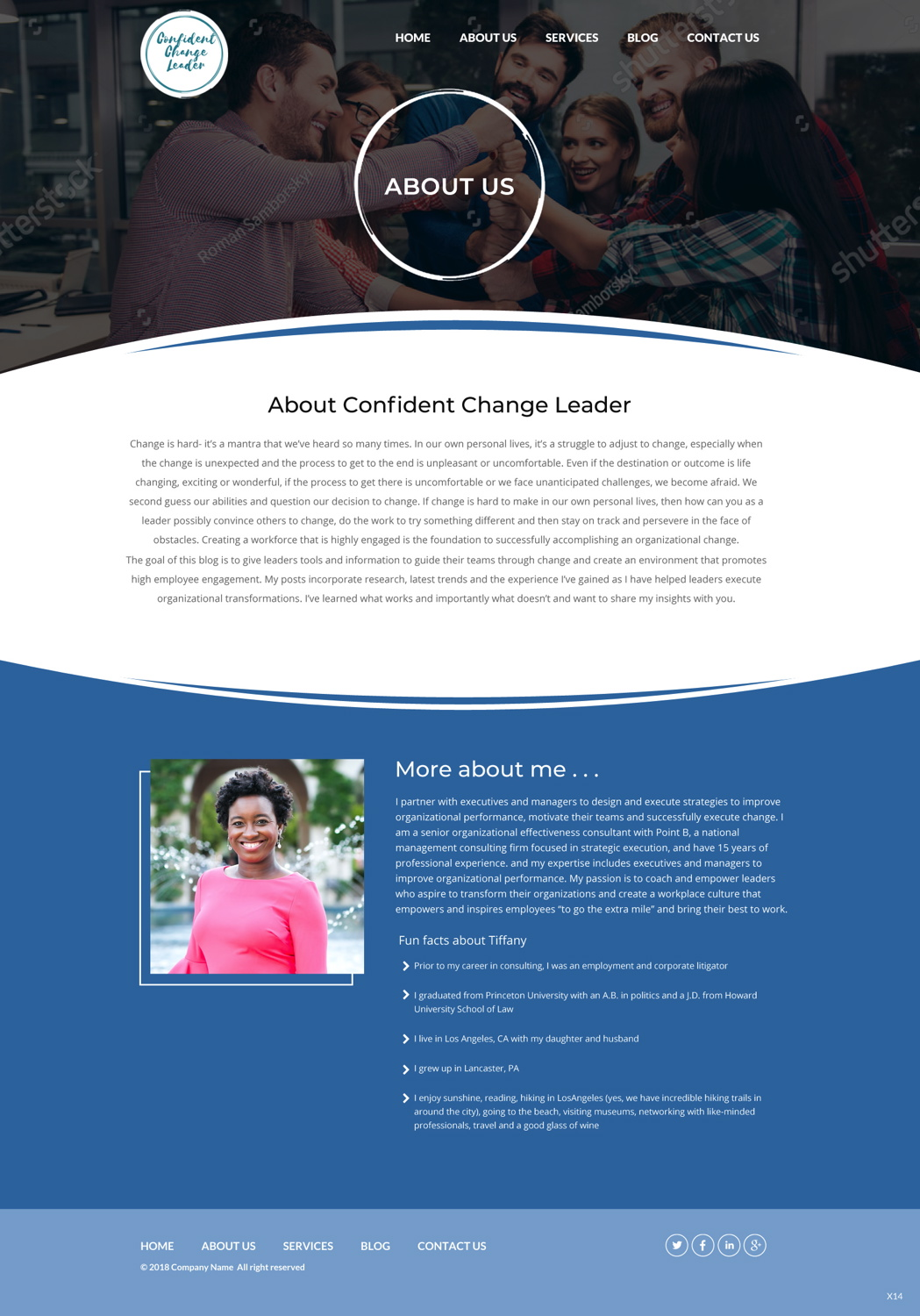 Upmarket Professional Management Consulting Web Design For A