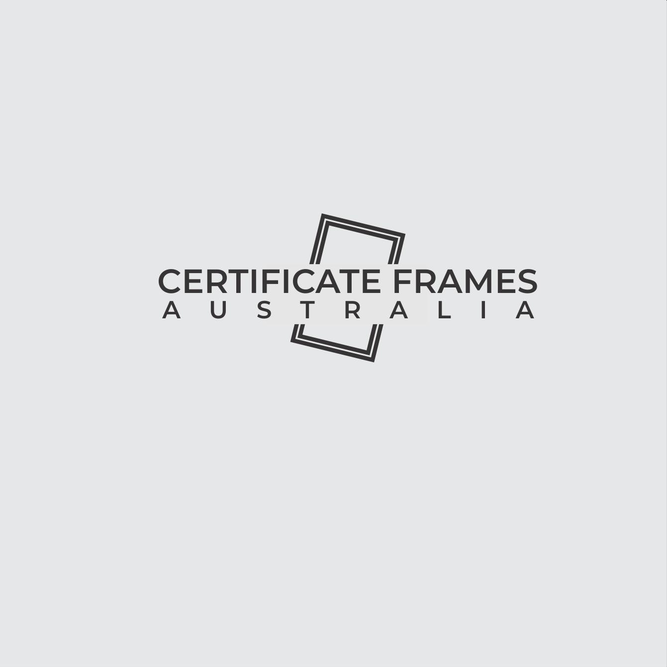 professional serious logo design for certificate frames australia