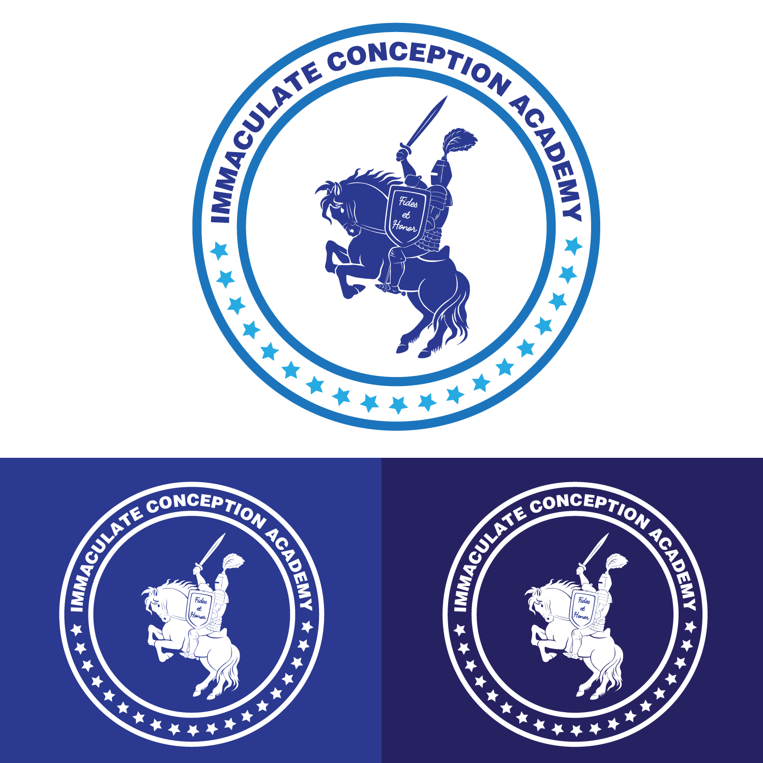Traditional Bold Logo Design For Immaculate Conception Academy By