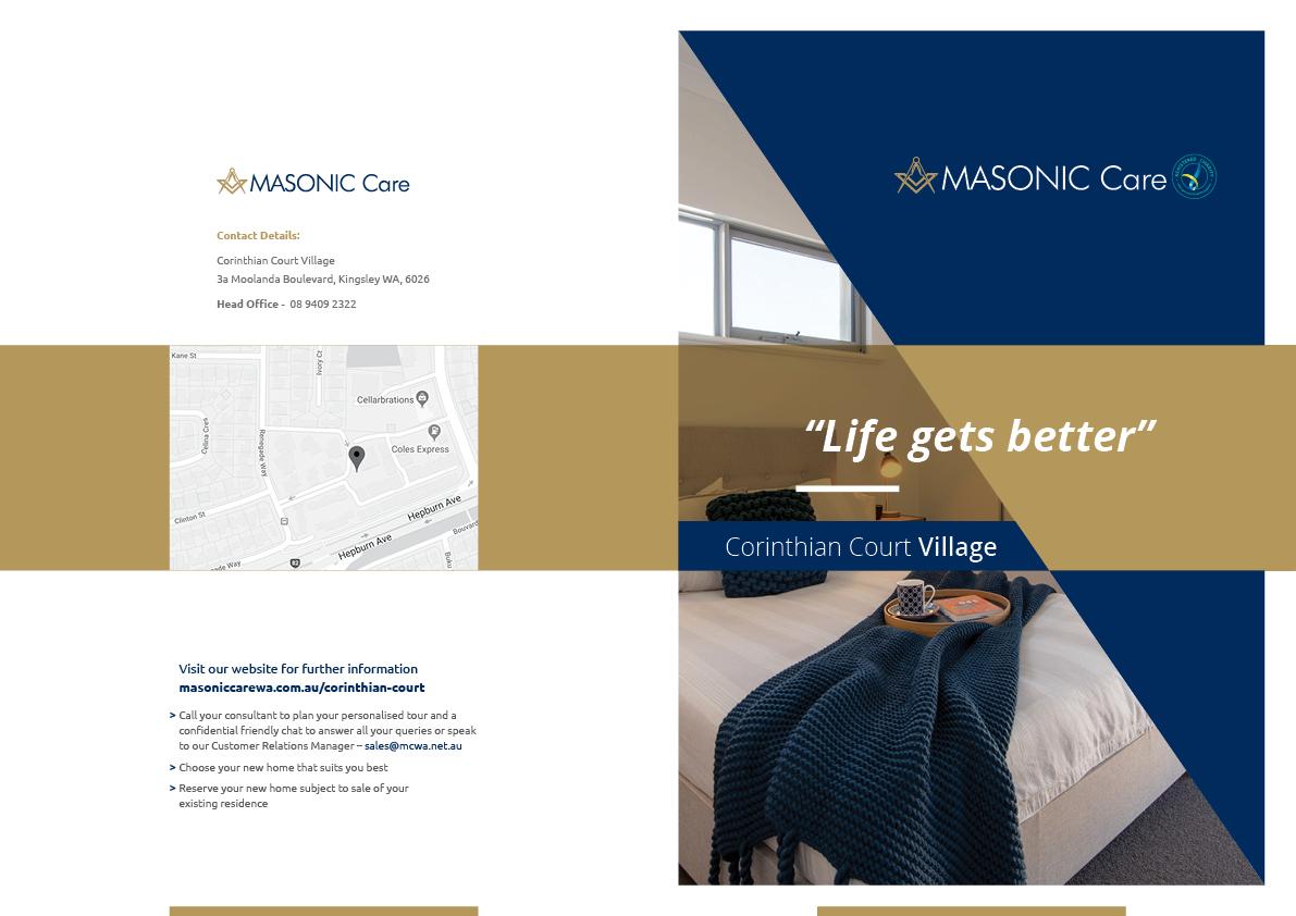 Graphic Design By One Quarter Creative For Masonic Care WA | Design  #19085911