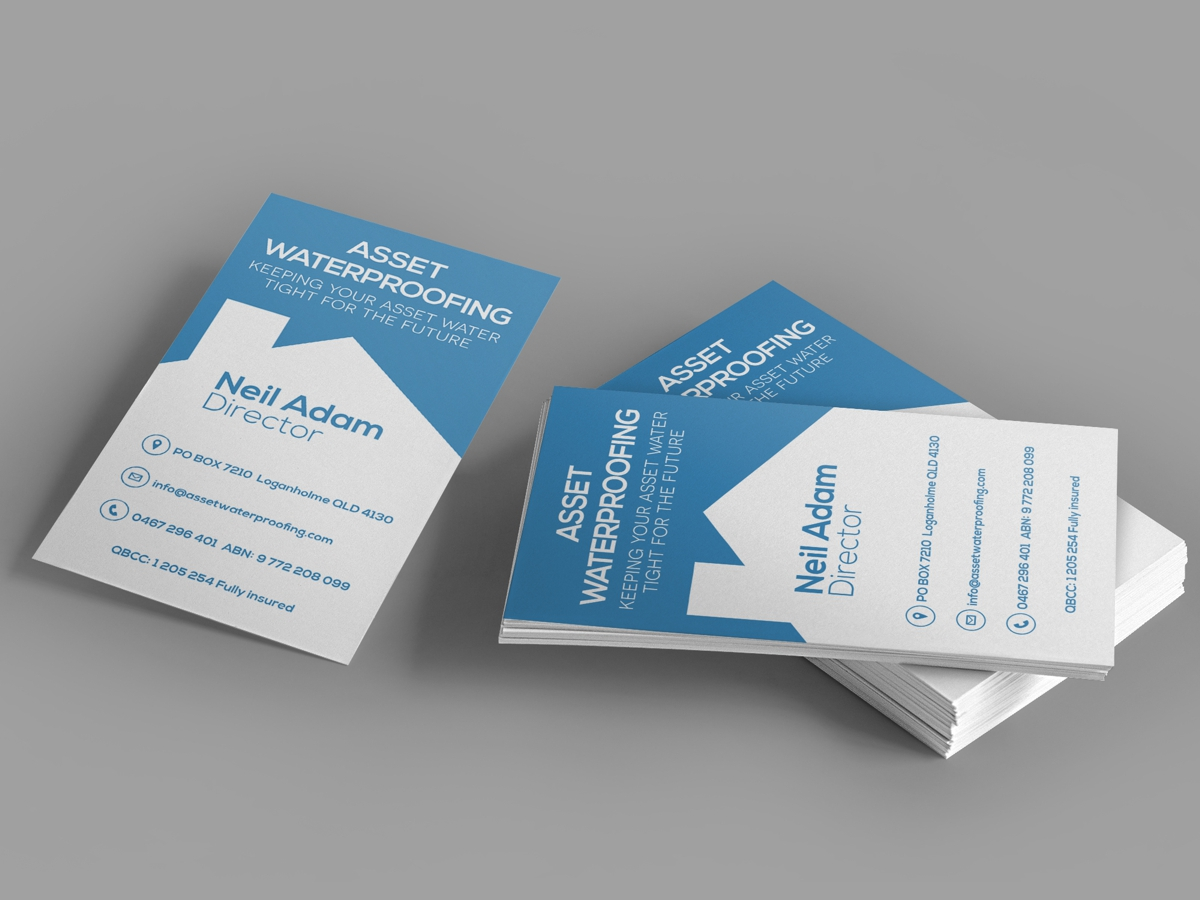 Bold serious residential business card design for asset bold serious residential business card design for asset waterproofing in australia design 2857814 reheart Image collections