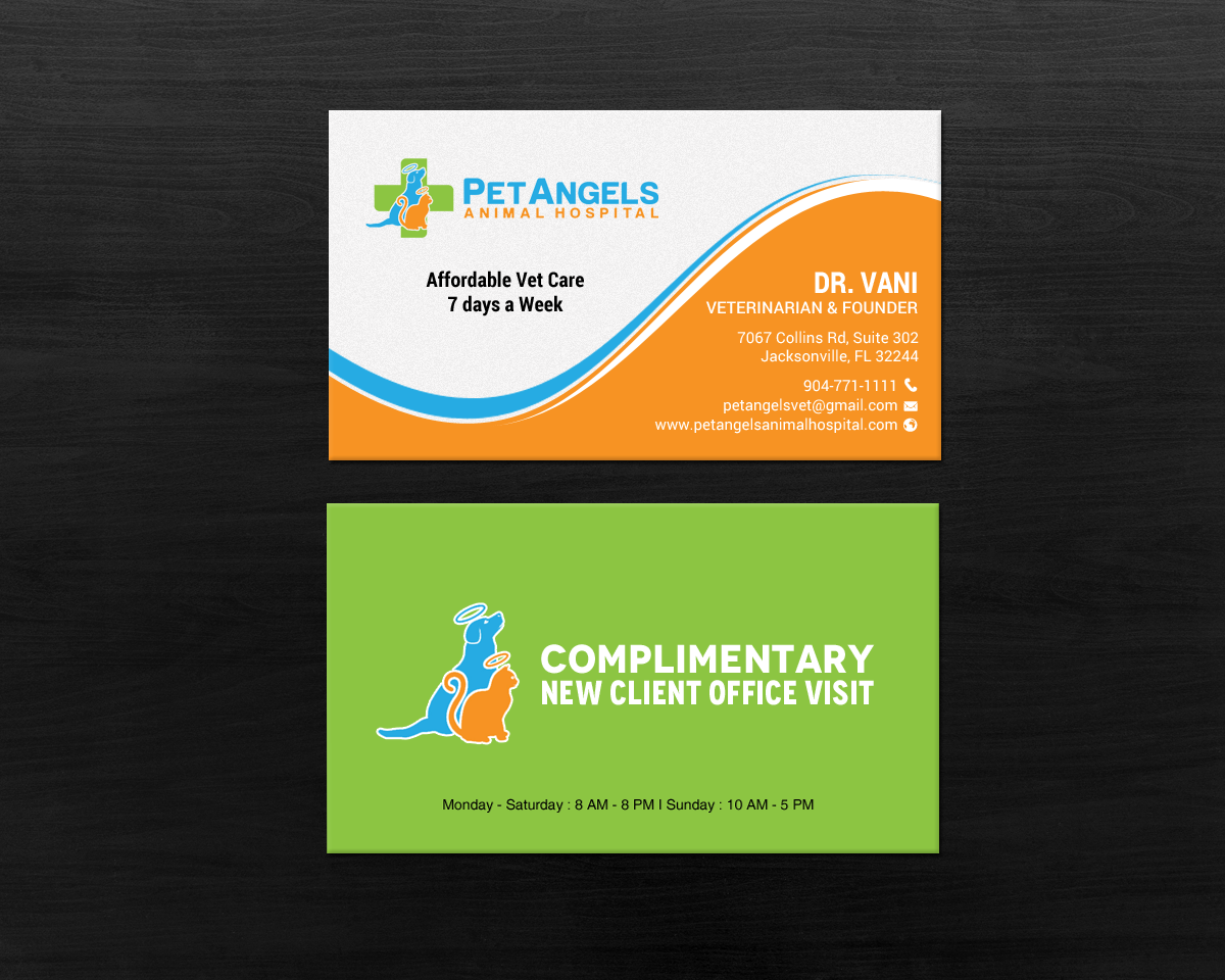130 business card designs business card design project for pet business card design by chandrayaaneative for pet angels animal hospitals design reheart Choice Image