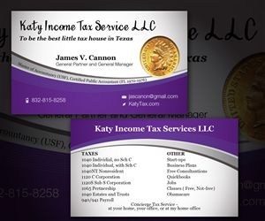 Business Card Design by  Esolbiz - Tax Service - Business Card Design
