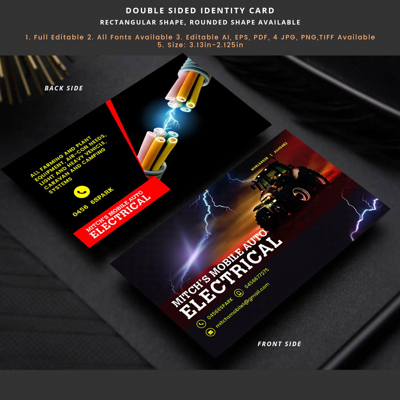 Visitenkarten Design Für Mitch S Mobile Auto Electrical Von