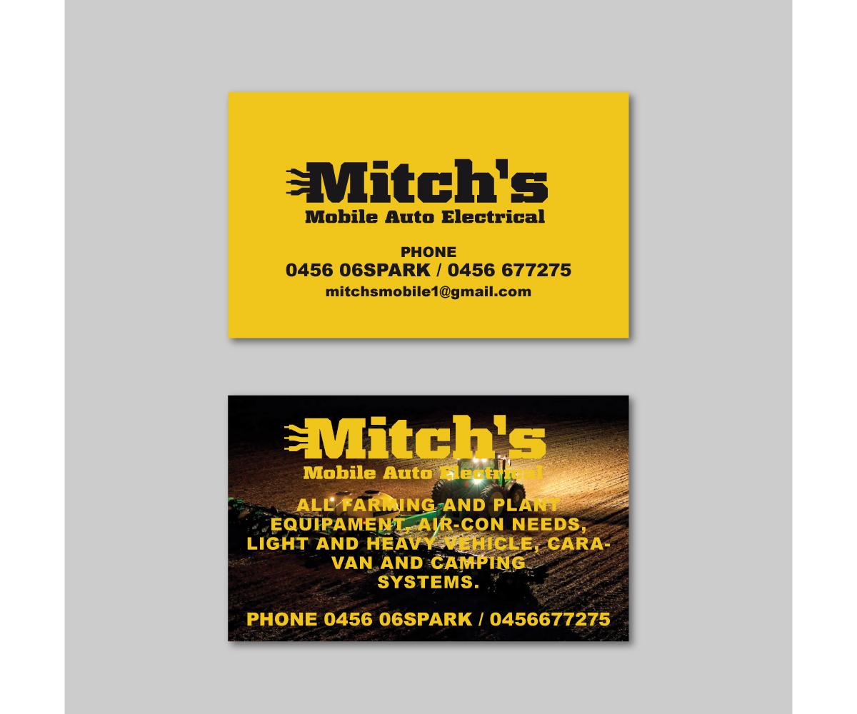 Design De Carte Visite Par Davaus Pour Mitchs Mobile Auto Electrical