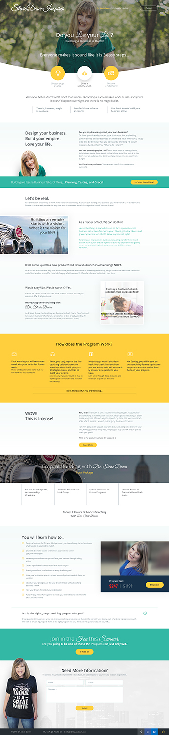 Feminine, Bold, Small Business Web Design for a Company by Ved Web