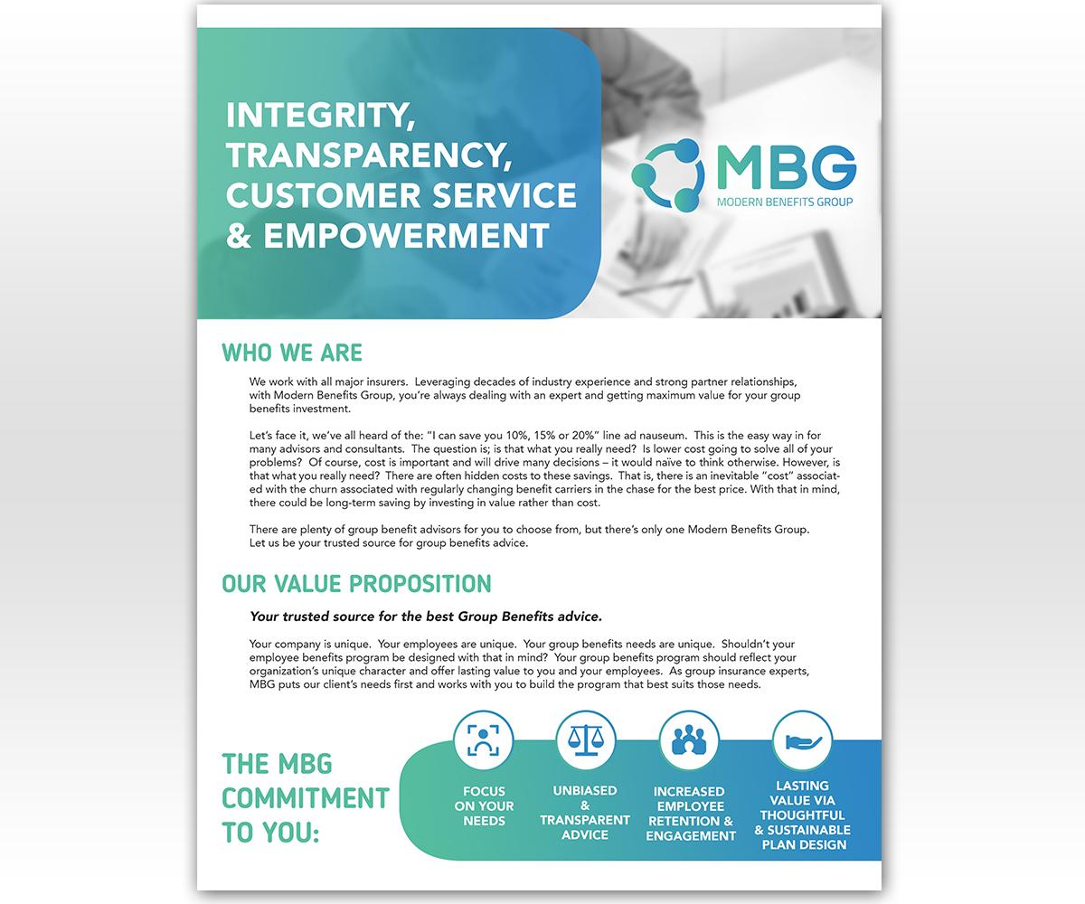 Modern, Upmarket, Insurance Broker Flyer Design for Modern ...