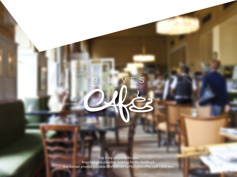 Personable Playful Coffee Shop Logo Design For 9 Lives Cafe By Dreamnight Design 19095336