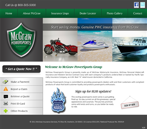 Web Design by pb - McGraw Direct Website