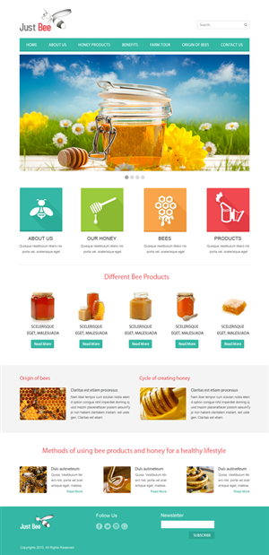 Modern, Upmarket, It Company Web Design for Just Bee Co  by