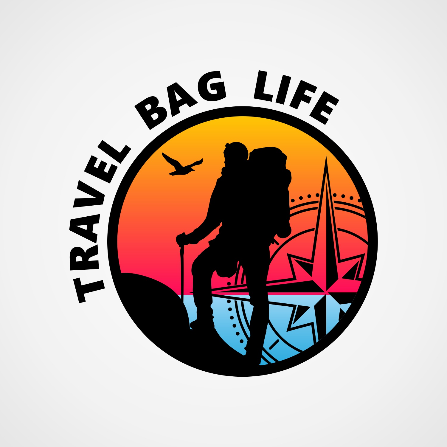 Logo for the Travel Bag Life by 	 ArtLex